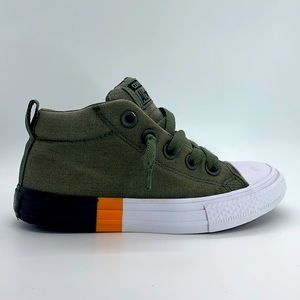 Youth Converse canvas laced slip on mid-tops